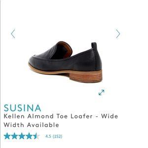 5e15377f624 Susina Shoes - SUSINA Kellen Almond Toe Loafer black leather